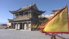 Jiayuguan fortress, Great Wall, China (1).mp4 Stock Footage