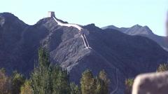 Jiayuguan fortress, Great Wall, China (4).mp4 Stock Footage