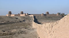 Jiayuguan fortress, Great Wall, China (5).mp4 Stock Footage