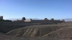 Jiayuguan fortress, Great Wall, China (6).mp4 Stock Footage