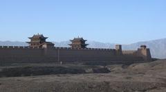 Jiayuguan fortress, Great Wall, China (7).mp4 Stock Footage