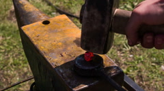 Hammers Beating on the Anvil HD Pro - stock footage