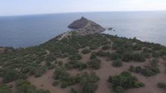 Aerial shooting of Capchik promontory - stock footage