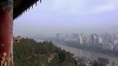 Lanzhou, very polluted city, China.mp4 Stock Footage
