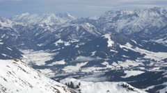 Gorgeous mountains surrounding Kitzbühel ski resort - stock footage