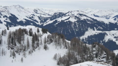 View of trees covering the mountains, Kitzbühel Stock Footage