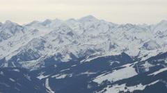 Beautiful landscape seen from Kitzbühel ski resort Stock Footage