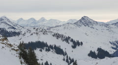 Panoramic view of mountains and chairlifts at Kitzbühel Stock Footage