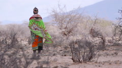 Tribesman  in the Wind Stock Footage