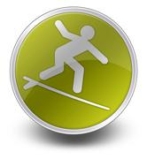 Stock Illustration of Icon, Button, Pictogram Surfing