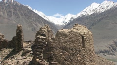 Wakhan valley, Kaak Kha fortress, Tajikistan (5).mp4 Stock Footage