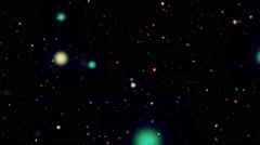 Slowly Galaxy of Colored Particles Backgorund Stock Footage