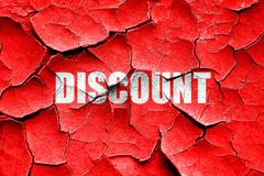 Grunge cracked discount sign background Stock Illustration