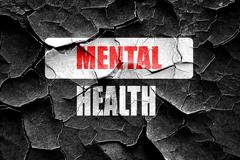 Grunge cracked Mental health  sign Stock Illustration