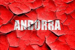 Stock Illustration of Grunge cracked Greetings from andorra