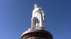 Zhangye, Marco Polo statue, China.mp4 Stock Footage