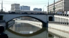 River City, Bauman Building a Bridge . Stock Footage