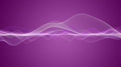 Romantic animation with wave object in motion, loop HD 1080p Stock Footage
