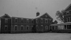 Warfield Complex Snow Timelapse 4K Stock Footage
