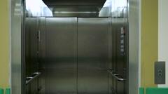 Closing elevator door - stock footage