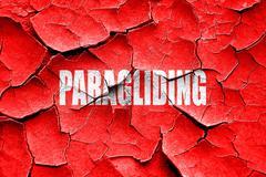 Grunge cracked paragliding sign background - stock illustration