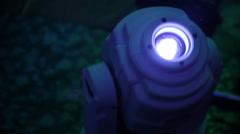Light spotlight on disco - stock footage