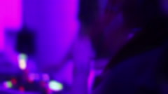 Stock Video Footage of Pleased people applauding DJ in the night club. Cool party. Modern music