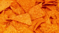 Tortilla Chips Rotating Closeup Stock Footage