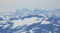 Panoramic view of mountains, Kitzbühel Stock Footage