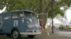 Clem Jones Promenade Boulevard , Brisbane River 4K - stock footage