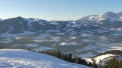 Beautiful view of mountains at Kitzbühel ski resort - stock footage
