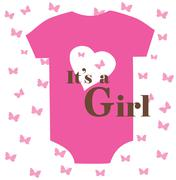 Baby clothes girl Stock Illustration