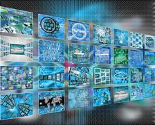 Many internet images Stock Illustration