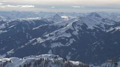 Beautiful landscape at Kitzbühel Stock Footage