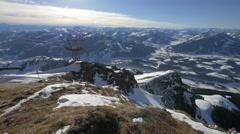 Panoramic view of Alps, Kitzbühel Stock Footage