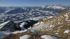 Beautiful view of Alps in Kitzbühel Stock Footage