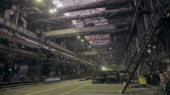 Metal production factory,  steel plant inside Stock Footage