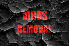 Grunge cracked Virus removal background - stock illustration