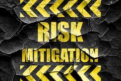 Grunge cracked Risk mitigation sign Stock Illustration