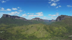 Paty Valley  (Vale do Pati) Time Lapse- Chapada Diamantina - Bahia - Brazil Stock Footage