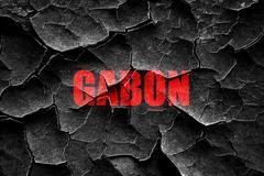 Grunge cracked Greetings from gabon - stock illustration