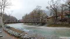 The The View from Kappabashi Bridge. This image was taken in Kamikochi, Nagan Stock Footage