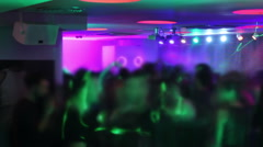Visual effects, timelapse. Crowd hanging out in the club. Nightclub atmosphere Stock Footage