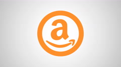 8K - Amazon icon symbol round logo Stock Footage