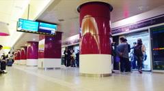 Dongdaemun Subway Station Platform Stock Footage
