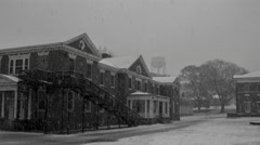 Warfield Complex Snowfall Time-lapse 4K Stock Footage