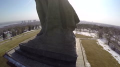 Aerial view of The Motherland Calls statue, Volgograd Stock Footage
