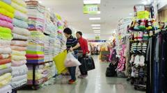 Inside the Dongdaemun Underground Shoppingcenter Stock Footage