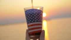The taste of America - stock footage