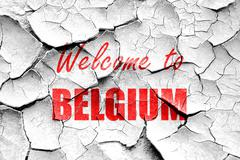 Stock Illustration of Grunge cracked Welcome to belgium